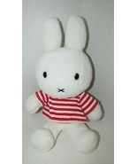 "Dick Bruna Plush Miffy doll red white striped shirt 15"" Play Along Jakks Pacific - $24.74"