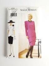 Vogue 9385 Dress Slim Chic Size 14 16 18 Layered Drop Waist Tiers 1995 U... - $13.99