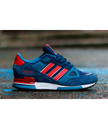 adidas Originals Mens ZX 750 Trainers Navy/Red Sneakers All Sizes - $109.71 - $114.93