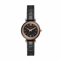 Fossil Ladies' Carlie Mini Three-Hand Black Ceramic Watch(Style: CE1105) - $180.22
