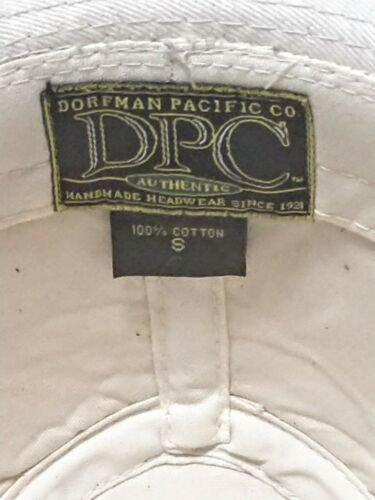 Dorfman Pacific Co. Men's Garment Washed Twill Safari Hat Beige Small, used image 8