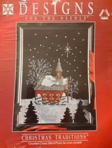 Designs for the Needle Church Cross Stitch Kit Christmas Traditions snow... - $12.86
