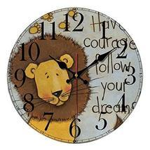 Cartoon Creative Mute Living Room Bedroom Modern Wall Clock, Yellow And ... - £25.68 GBP