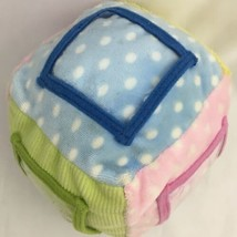 Kids Preferred Plush Photo Picture Cube Rattle Stuffed Baby Toy Pastel P... - $6.86