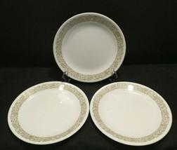 "Lot 3 Vintage Corelle WOODLAND BROWN  Luncheon Plates 8-1/2"" - $18.67"
