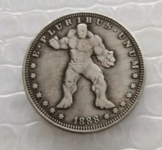 Rare New Hobo Nickel 1888 Dollar The Hulk Marvel Superhero Disney Casted... - $11.99