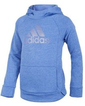 Adidas Girls Tech Fleece Pullover Hoodie-Blue Adidas Cowl Neck Logo Tech... - $25.73