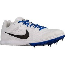 NIKE MEN'S ZOOM RIVAL D WHITE/BLACK-RACER BLUE CLEATS SIZE 15 NEW - $28.62