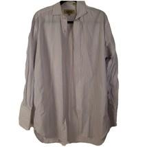 Paul Stuart Fine Dress Shirt Men's 16 x 32 Spread Collar Lavender White ... - $28.28