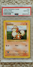 Pokemon Growlithe 28/102 Shadowless Base Set PSA 10 1999 Pokemon TCG - $49.99