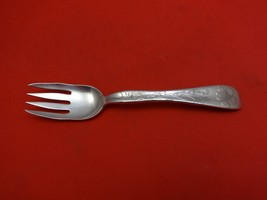 Lap Over Edge Acid Etched by Tiffany & Co. Sterling Fish Fork Large Flower - $483.55