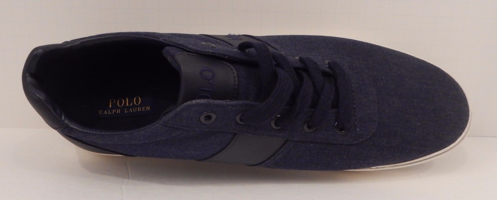 GENUINE POLO RALPH LAUREN MENS SIZE 14 D DARK BLUE  FASHION SNEAKER SHOE HANFORD