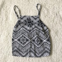 Women's Small Express Tie Back Crop Top Black White New With Tags - $14.84