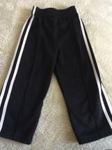 Garanimals Boys Black White Side Stripe Athletic Pants 24 Months 2T - $4.00