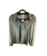 TOPSHOP Black Blush Long Sleeve Blouse Women's With Tank Linen Top Size 2 - $14.84