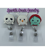 The Nightmare Before Christmas Tsum Tsum Clay Rhinestone Badge Reel - $21.55