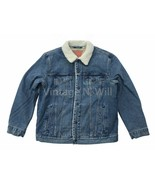 Levis Red Tab Mens Blue Youngstown Classic Fit Sherpa Denim Jean Trucker... - $113.05