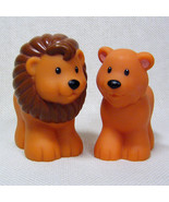 Fisher Price Little People LION and LIONESS from Noah's Ark Replacement - $5.00
