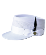 Men's Bruno Capelo Telescope Baseball Legionnaire Vented Hat/Cap White - $49.99