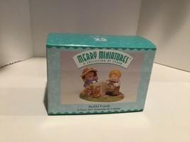 Hallmark Merry Miniatures - Bashful Friends, 3 Piece - QSM8459 - 1998 - Mint - $3.95