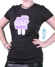 Neff Girls Womens NEFFSICLE Popsicle Ice Cream Tahiti Blue or Black T-Shirt NWT image 2