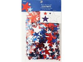 Brother & Sister Design Studio Red, White, and Blue Confetti Stars