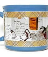 Chef Recipes Cook Mug HH Blue Yellow Plaid Colman's Mustard Kitchen Coffee Soup - $19.87
