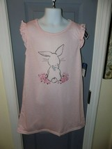 Laura Ashley Pink Bunny With Bowtie Nightgown Size 6 Girl's NEW - $24.92