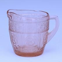 Vintage Depression Glass Pink Doric & Pansy Pretty Polly Child's Creamer