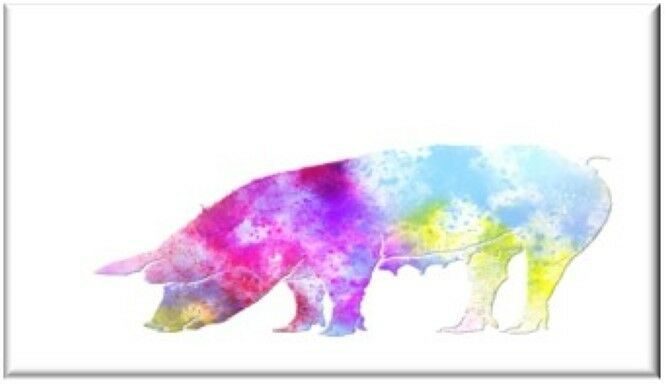 Primary image for Watercolor Pig Refrigerator Magnet
