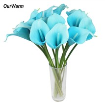 OurWarm 6Pcs/Lot Artificial Calla Lily Latex Real Touch Calla Lilies Fak... - $7.50