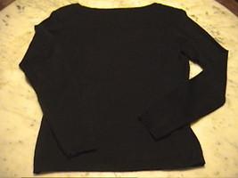 New  Talbots Navy Blue Diamond Design Scoop Neck 100% Pima Cotton Sweater   P-S - $35.00