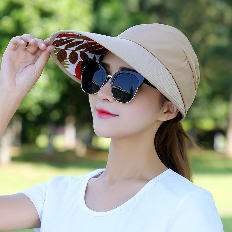Floral Sun Hats for Women Summer Wide Large Brim Floppy Beach Folding Sun Protec