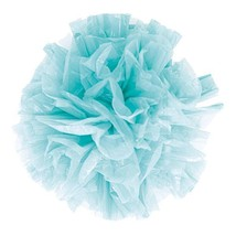 Just Fluff Colored Plastic Poms Package of 25 Poms Light Blue (Pack of 1)  - $11.99
