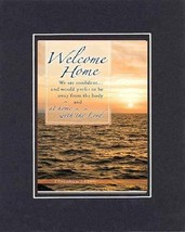 Welcome Home . . . 8 x 10 Inches Biblical/Religious Verses set in Double Beveled - $11.14