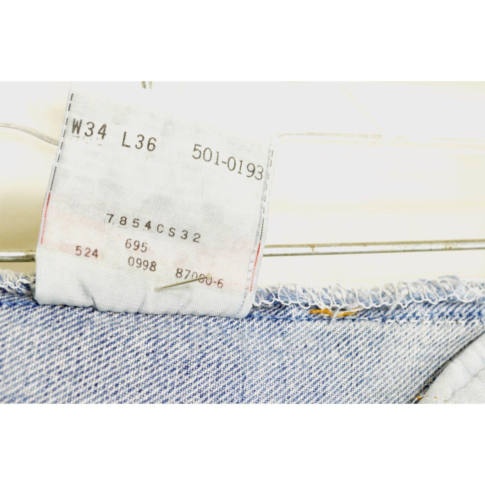 Levi 501 jean 34 x 36 vintage straight button fly classic high waist mom USA