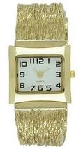 Women's Slinky Liquid Gold Bracelet Watch Top Quality  - $13.51