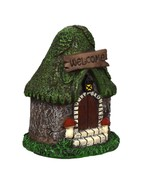 """Miniature Fairy House with Welcome Sign 4.5"""" for Forest Fairy Garden Pol... - $18.99"""