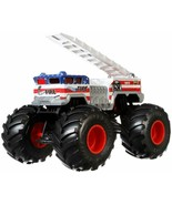 Hot Wheels Monster Trucks Alarm die-cast 1:24 Scale Vehicle with Giant W... - $27.26