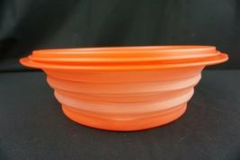 Tupperware Flat Out Expandable Go Flex Bowl 8 1/4 Cup 5570 5571 Orange NEW  - $24.95