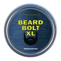 Beard Bolt XL | Caffeine Facial Hair Growth Stimulating Beard Balm | Premium Lea