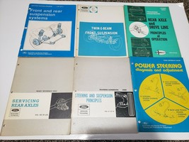 Lot of 6 Ford Mechanic Service Manuals-2 Axle, 2 Steering, 2 Suspension - $29.69