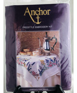 Anchor Embroidery Kit SPRING FLOWERS Tablecloth 31.5 X 31.5 NEW Freestyl... - $37.13