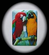 Parrots Metal Switch Plate Birds - $9.50