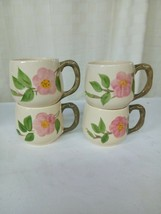 Vintage Franciscan Desert Rose Bulbous Mugs Coffee Cups England - Lot of 4 - $24.00