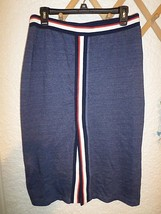 KIIND OF RACING STRIPE STRETCH KNIT SKIRT VINTAGE SIZE L - $14.52