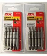 "Skil 47114 10 Piece 1"" Torx Screwdriver Assortment Bit Set T10 To T40 2PKS - $3.96"