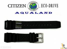 Citizen Eco-Drive Aqualand BJ2004-08E Originale Gomma Nera Orologio con - $65.94