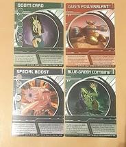 Bakugan Battle Brawlers-DOOM CARD-rare silver foil + 3 more silver foil ... - $35.72