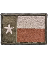 Texas State Flag Lone Star 2x3 - Morale Patch - Coyote Brown - $5.87
